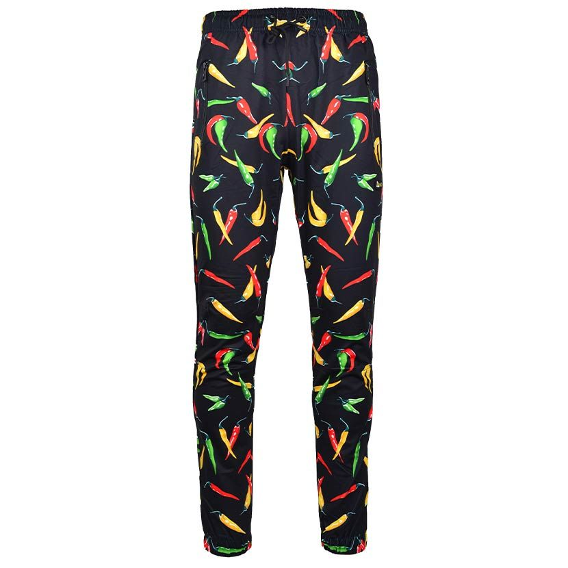 DMDTP13BC DMD FULL PRINT TRACK PANTS Black Chilli DMDS20 036B V1