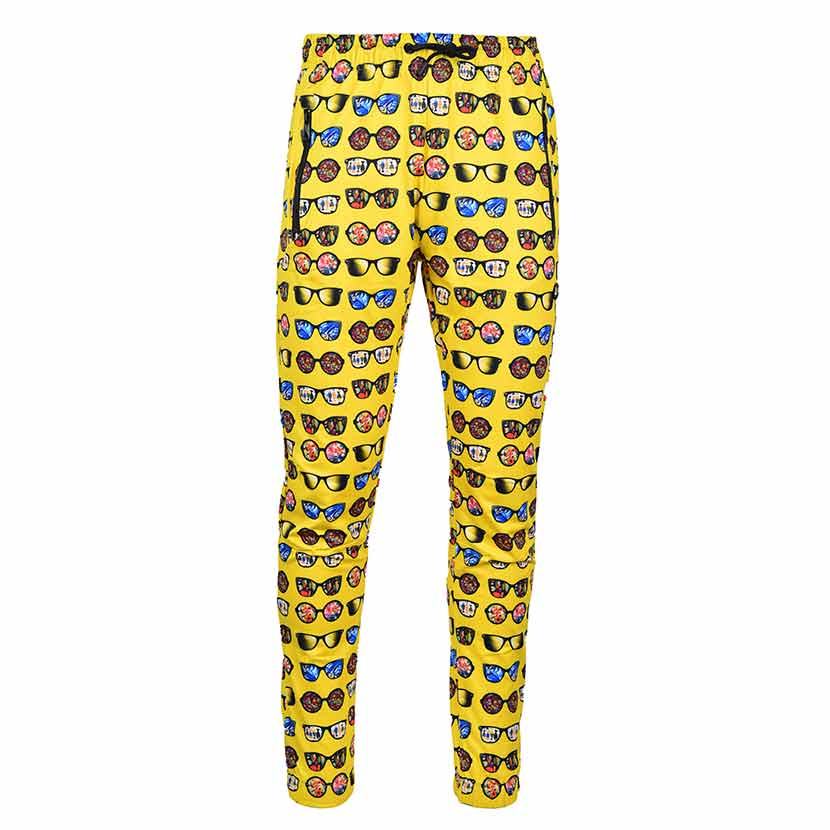 DMDTP13SP DMD Mens Full Print Track Pants DMDS20 038B Yellow V1