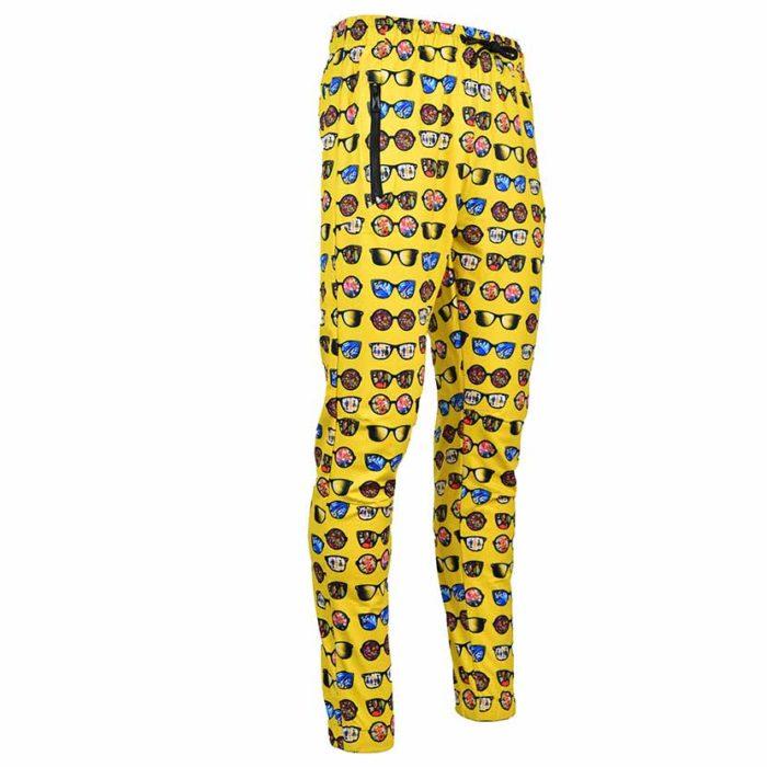 DMDTP13SP DMD Mens Full Print Track Pants DMDS20 038B Yellow V3