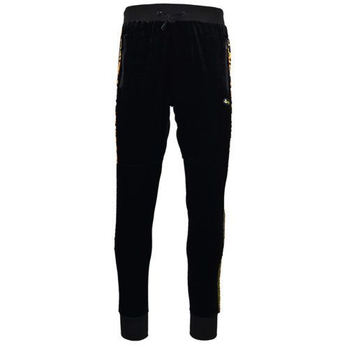 DMDTP13BG DMD MENS VELOUR PANTS BLACK DMDW21 057D V1