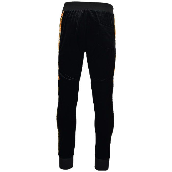 DMDTP13BG DMD MENS VELOUR PANTS BLACK DMDW21 057D V2