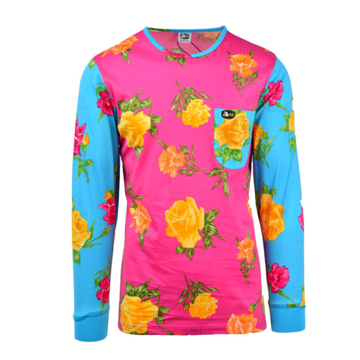 DMD LONG SLEEVE CRAZY ROSES PINK